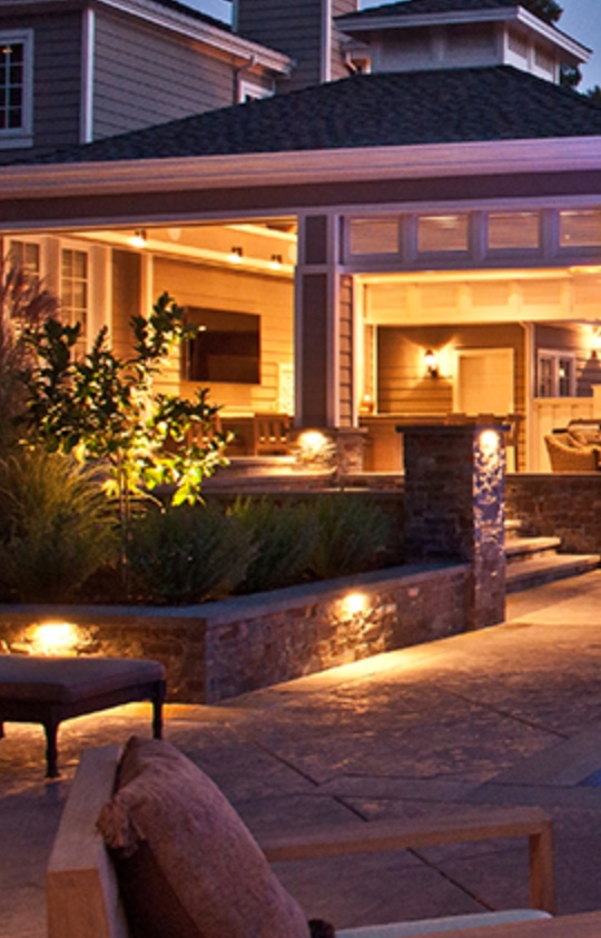 Sample photo of patio LED lighting installation